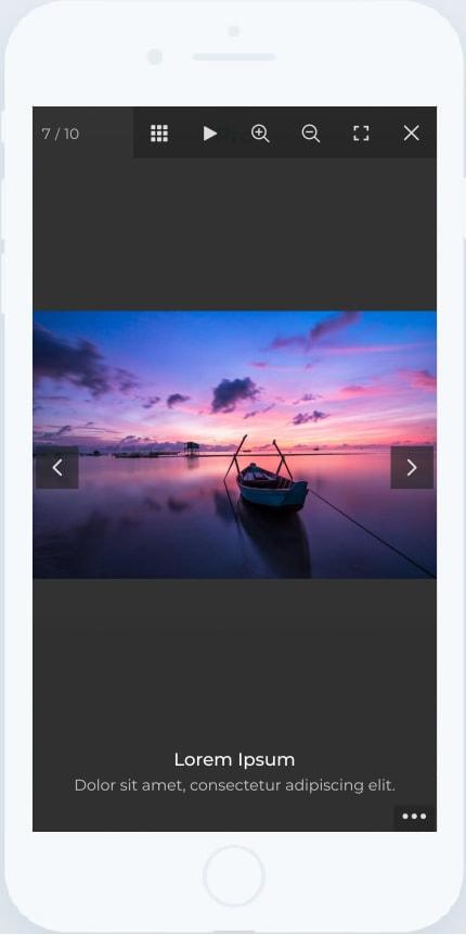 Fullscreen Lightbox Mobile